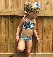 Baby Girls Swimsuit 2PCS Summer Kids Split Swimwear Girls Ki