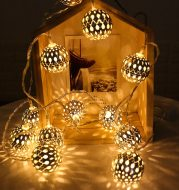 LED Fairy Garland Hollow wrought iron Ball