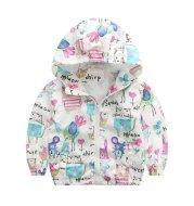 Baby girl cartoon hoodie