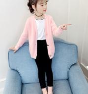 Girls'' 2021 spring sweater imitation mink fur coat spring and autumn new middle and big boys girls'' Korean mink cardigan
