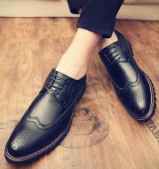 Men's shoes autumn breathable British leather shoes