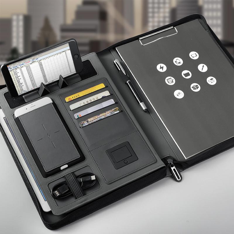 Multifunctional rechargeable folder