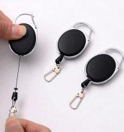 Creative Telescopic Wire Rope Key Ring Carabiner