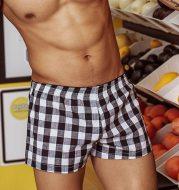 Fashion Plaid Four Corners Big Pants Casual Men's Shorts