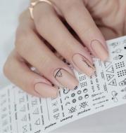 Geometric  DIY Art Nail Polish Stickers