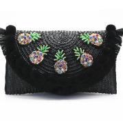 Women's embroidered shoulder bag