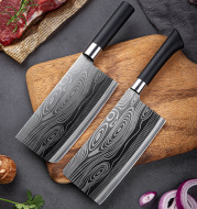 Meat cleaver slicing free grinding chef knife