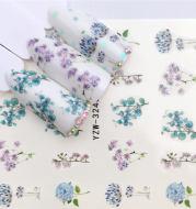 Flower hot air balloon nail art watermark sticker