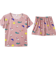 Sleeve shorts two-piece pajamas home service