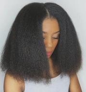 Short hair chemical fiber wig