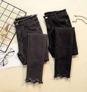 Women's loose-fit fleece slim jeans