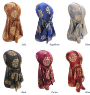Bright silk cloth with ribbon package head cap