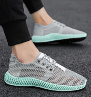 Trendy wild men's shoes deodorant mesh panel shoes
