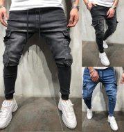 Casual sweatpants beam-leg jeans