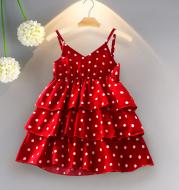 Korean version of princess dress for female baby chiffon