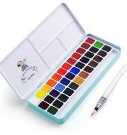 Solid watercolor paint set