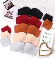 One-piece strapless bra