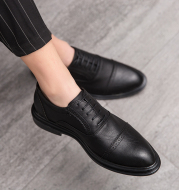 Summer breathable leather shoes