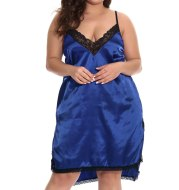 Fat MM sexy pajamas plus size suspenders skirt nightdress