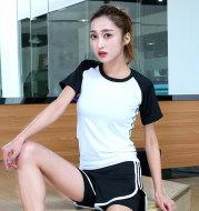 Short sleeve slim fit gym top