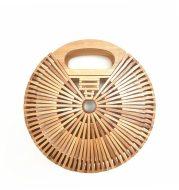 Round Hand Bamboo bag