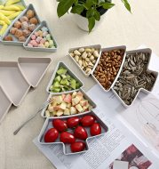 Small tree compartment dried fruit tray snack box