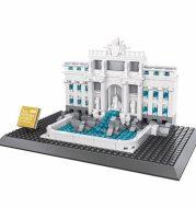Building landmark assembled building blocks