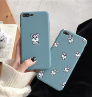 Cartoon Schnauzer dog suitable for Huawei Glory thickened soft shell