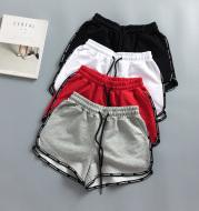 Loose, casual, wide-legged, high-waisted beach hotpants