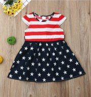 Flag stripe dress