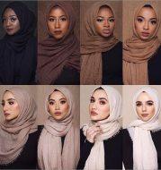 Monochrome cotton scarf shawl