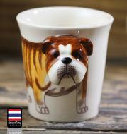 Animal mug Hand painted animal mug english bulldog ceramic mug