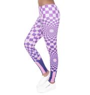 Geometric block printed cropped pants