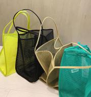 Transparent mesh shoulder bag
