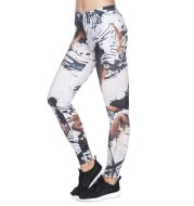 Ink figure printed cropped trousers