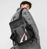Backpack men's leather travel bag