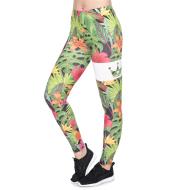 Jungle Flower Print Cropped Pants