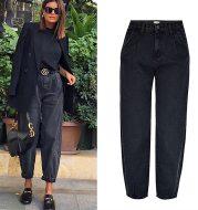 Women's high waist loose jeans