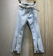 Split pencil jeans