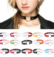 pu leather love necklace