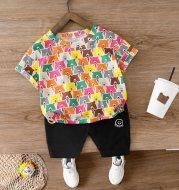 Bear pattern cartoon cute children's wear