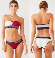 Tube top split bikini