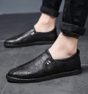 Lazy men's casual leather shoes