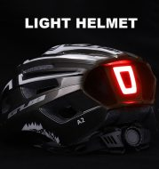 Riding helmet with USB charging tail light