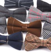 British fashion gentleman double bow tie