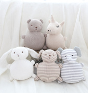 Knitted wool animal doll
