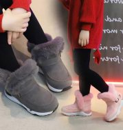 Girls plus cotton padded boots cotton shoes