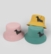 Retro black tide brand fisherman hat
