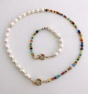 Bohemian crystal bead necklace