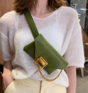 Textured messenger bag